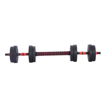 Dumbbells Barbell Weight Set 15KG Adjustable Rubber Home GYM Exercise Fitness