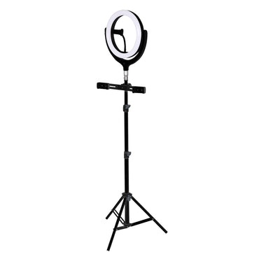 12'' LED Ring Light with Tripod Stand Phone Holder Dimmable Selfie Studio Lamp Black