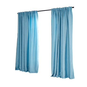 2X Blockout Curtains Curtain Living Room Window Blue 140CM x 230CM