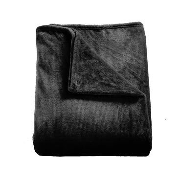 DreamZ 320GSM 220x160cm Ultra Soft Mink Blanket Warm Throw in Black Colour