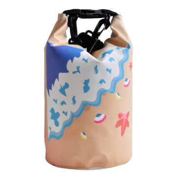 4L Dry Carry Bag Waterproof Beach Bag Storage Sack Pouch Boat Kayak Beige