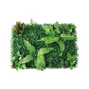 6 x Artificial Hedge Grass Plant Hedge Fake Vertical Garden Green Wall Ivy Mat Fence