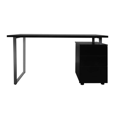 Office Computer Desk Student Laptop Study Table Home Workstation Shelf Desks Black