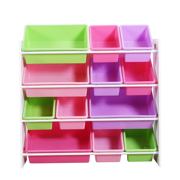 Levede 12Bins Kids Toy Box Bookshelf Organiser Display Shelf Storage Rack Drawer