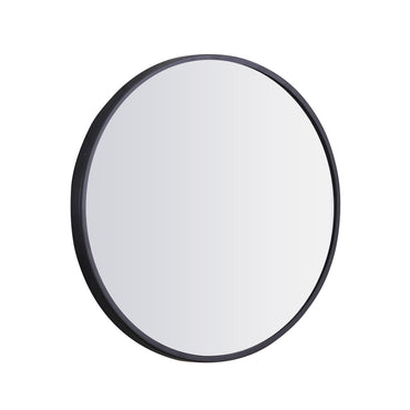 Wall Mirror Round Shaped Bathroom Makeup Mirrors Smooth Edge 60CM