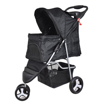 PaWz Pet Stroller 3 Wheels Dog Cat Cage Puppy Pushchair Travel Walk Carrier Pram