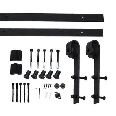 1.83M Antique Classic Style Single Sliding Barn Door Hardware Track Roller Kit