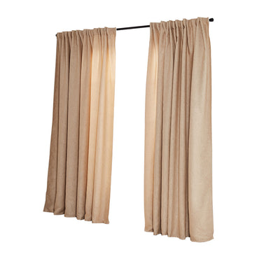 2X Blockout Curtains Curtain Living Room Window Buff 180CM x 230CM