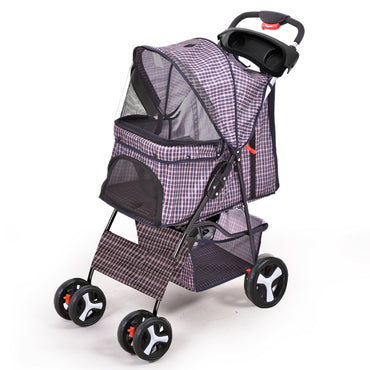PaWz Pet Stroller 4 Wheels Dog Cat Cage Puppy Pushchair Travel Walk Carrier Pram