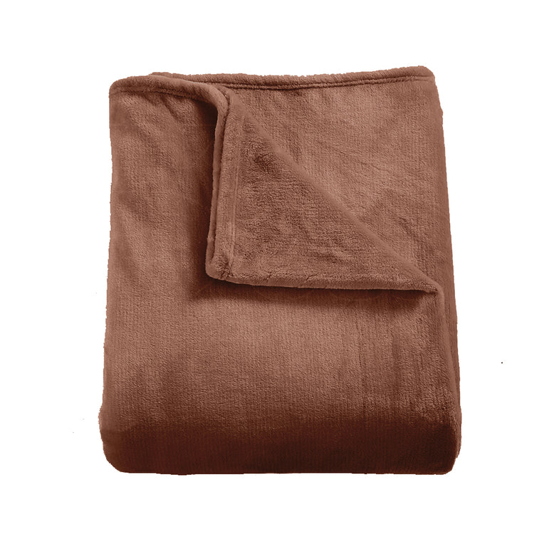 DreamZ 320GSM 220x240cm Ultra Soft Mink Blanket Warm Throw in Mink Colour