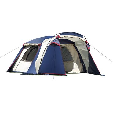Family Camping Tent Tents Portable Outdoor Hiking Beach  4-6 Person Shade Shelter