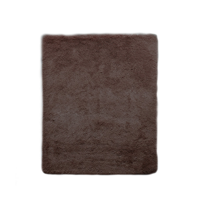 Designer Soft Shag Shaggy Floor Confetti Rug Carpet Home Decor 80x120cm Coffee