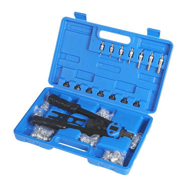110Pcs Nut Riveter Kit Heavy Duty Mandrels Riveting Gun Tool Kit Thread M3-M12