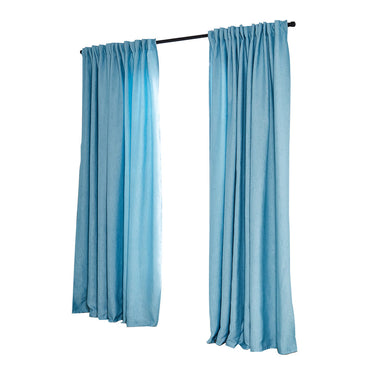 2X Blockout Curtains Curtain Living Room Window Blue 132CM x 213CM