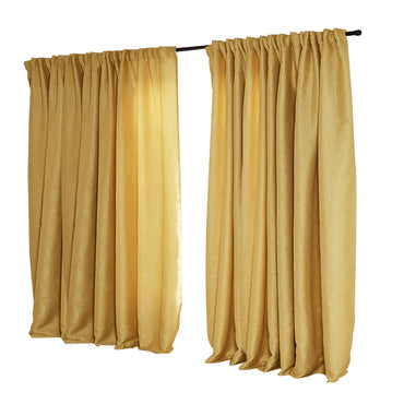 2X Blockout Curtains Curtain Living Room Window Mustard 240CM x 230CM
