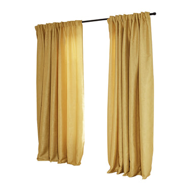 2X Blockout Curtains Curtain Living Room Window Mustard 140CM x 230CM