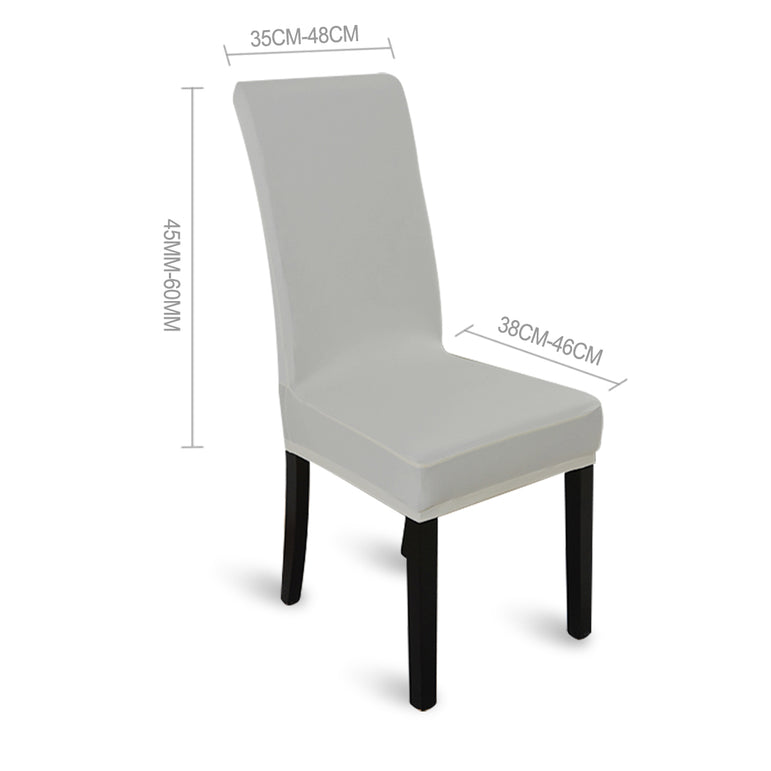 1x Stretch Elastic Chair Covers Dining Room Wedding Banquet Washable Grey