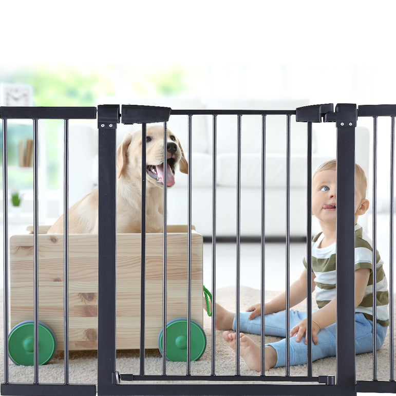 Baby Kids Pet Safety Security Gate Stair Barrier Doors Extension Panels 20cm BK