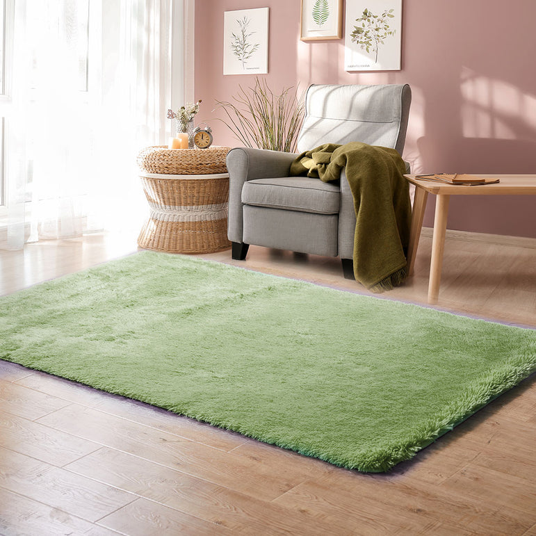 Designer Soft Shag Shaggy Floor Confetti Rug Carpet Home Decor 120x160cm Green