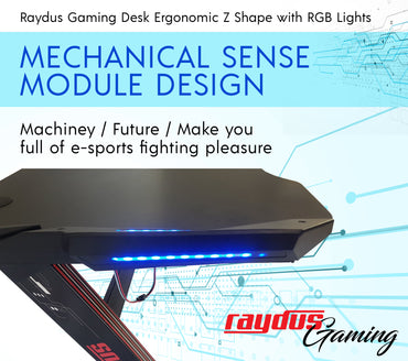 Raydus Gaming Z shaped PC RGB Desk Cup Holder and Headset Hook