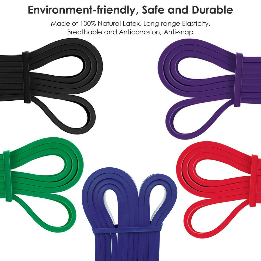 5PCS Set Resistance Bands Loop GYM Fitness Exercise Yoga Training