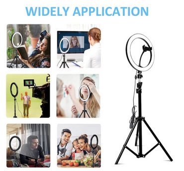 12 Inch Phone Selfie Ring Light with Stand Dimmable For Makeup Video Shooting Live LED