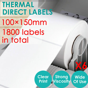 Direct Thermal 100x150mm 4x6 Printing Post Labels Roll Fastway Startrack eParcel
