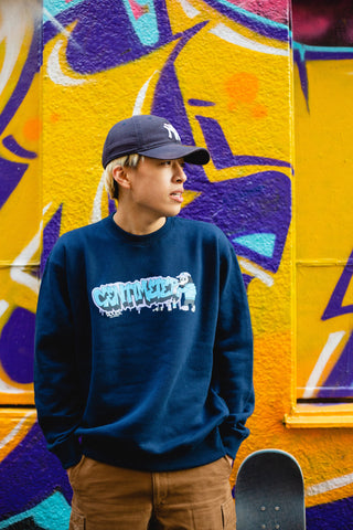[2/20(土)21:00-]centimeter Graffiti logo sweat(ネイビー)【original】