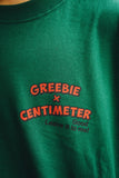 【7/25 21:00 販売開始】Greebie × centimeter CMTトミーくんTee(ivy green × red logo)【original】