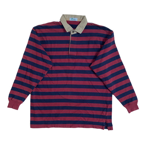 red×navy border rugger shirts【used】