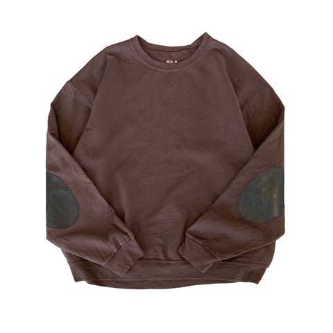 Remake Elbow Patch Brown Sweat【used】
