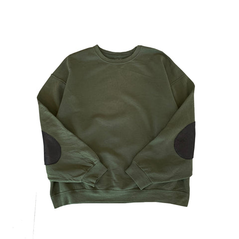 Remake Elbow Patch Dark Green Sweat【used】