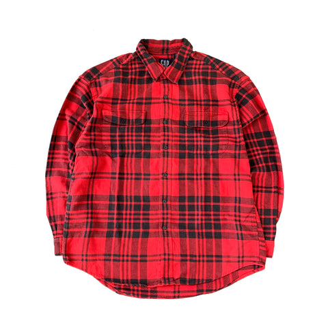 GAP Black x Red Check Shirt【used】