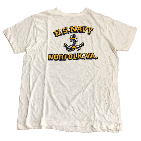 【パキ綿】U.S. NAVY  T-Shirt(yellow)【used】