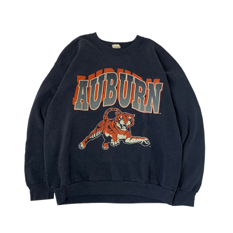 AUBURN Navy Sweat【used】