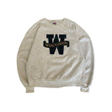 WISCONSIN College Rib Sweat【used】