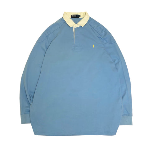 Polo by RALPH LAUREN  Light Blue Rugby Shirt【used】