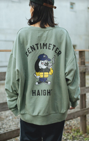 [11/22(日)21:00-受注販売] centimeter × haight rular sweat(くすみミント)【original】