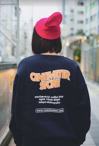 [1/16(土)21:00-]CENTIMETER COFFEE SHOP sweat (ネイビー)【original】