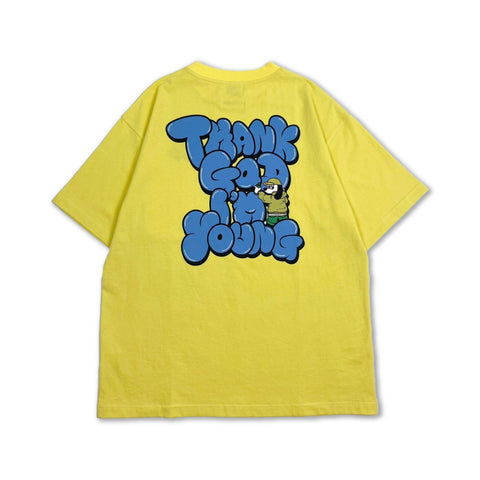 [4/17(土)21:00-]centimeter × 9090 Graffiti Tee(くすみイエロー)【original】