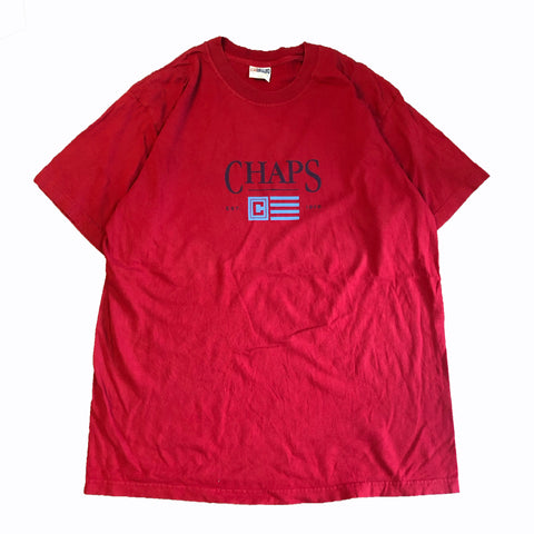 CHAPS Logo Red Tee【used】