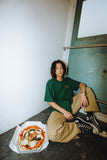 【7/25 21:00 販売開始】Greebie × centimeter CMTトミーくんTee(ivy green × orange logo)【original】