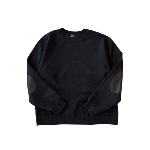 Remake Elbow Patch Black Sweat 【used】