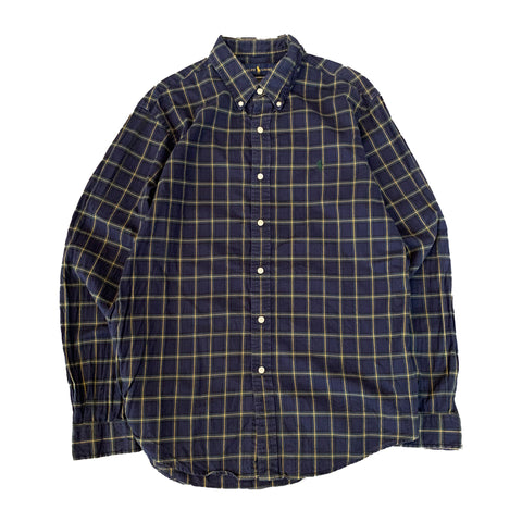 RALPH LAUREN Navy Check Shirt【used】