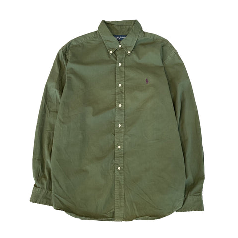 RALPH LAUREN Dark Green Shirt【used】