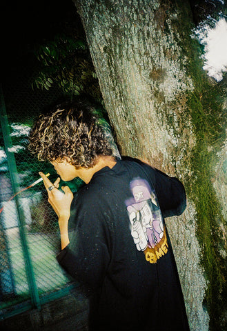 [5/15(土)21:00-]graffiti writer ruler  tee(ブラック)【original】