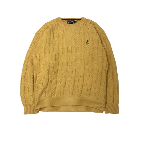 CHAPS  Yellow Cable Knit【used】