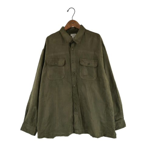 olive suede shirt【used】