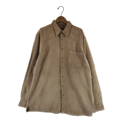 beige suede shirt【used】