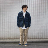 work navy blouson【used】